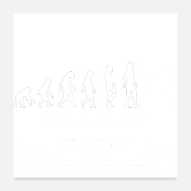 Evolutionary History Evolution drunk alcohol white - Poster