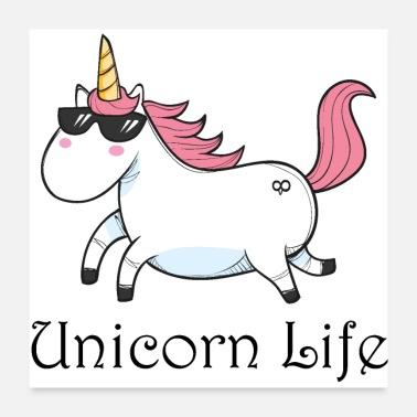 Unicorn Thug Life Mouse pad Horizontal - white