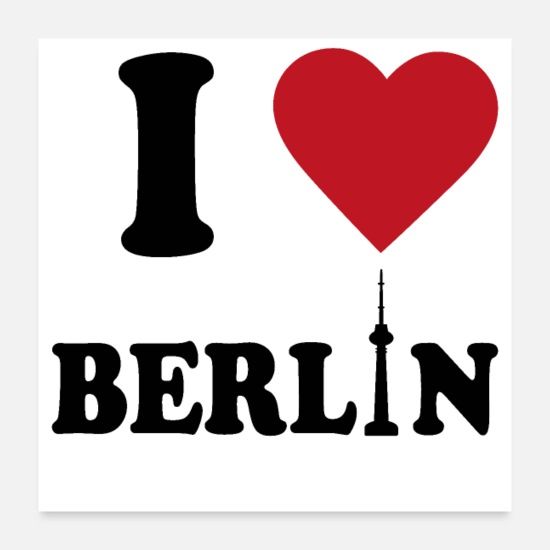 Friedrichshain Posters - I love Berlin Bear Capital Germany Gift - Posters white