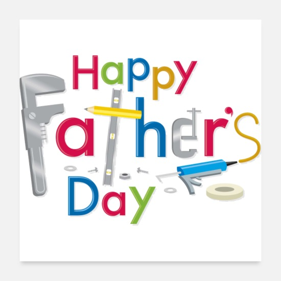 Day Posters - Happy Fathers Day - Posters white