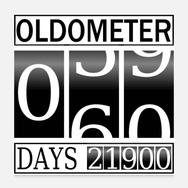 Turn Oldometer Turning 60 - Poster
