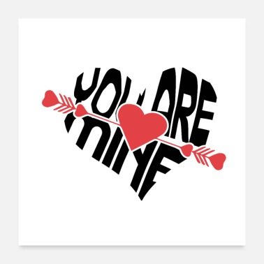 Marriage New T-Shiret Woman - You are mine - Poster 24x24