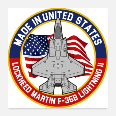 Lightning Lockheed Martin F-35B Lightning II - Made in USA - Poster 24x24
