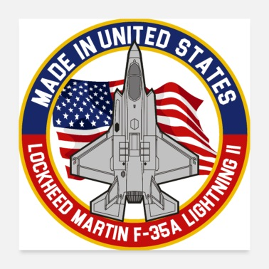 Martin Lockheed Martin F-35A Lightning II - Made in USA - Poster