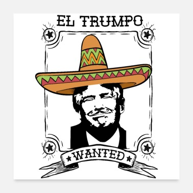 Annoying Anti Trump Mexico Sombrero moustache USA Gift - Poster