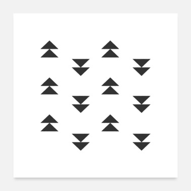 Mud triangles mud cloth - Poster