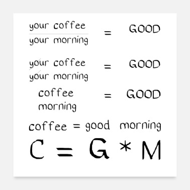 Mummy good morning coffee love funny quotes coffee - Poster 24x24
