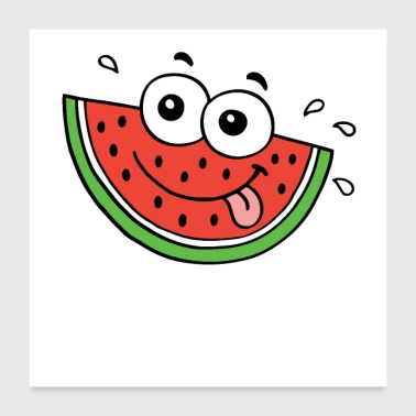 Water Sports Hot summer food water melon - Poster 24x24