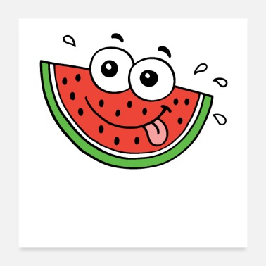 Food Hot summer food water melon - Poster 24x24