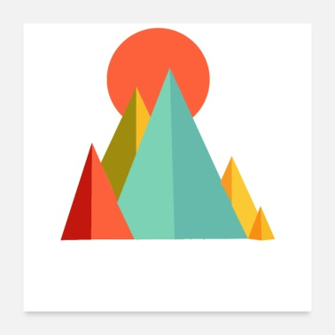 Alps Mountain - Poster 24x24