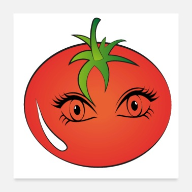 Eyebrows Watching tomato - Poster