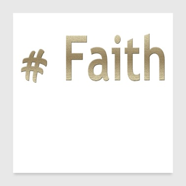 Hashtag Faith Cool Christian Design - Poster 24x24