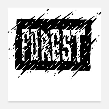 Ink Forest Ink - Poster 24x24