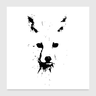 Ink Black Ink Fox - Poster 24x24