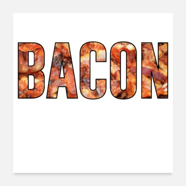 Fathers Day Bacon ham bacon barbecue season gift father - Poster 24x24