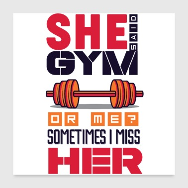Gym or Girlfriend weights dumbbell biceps - Poster 24x24