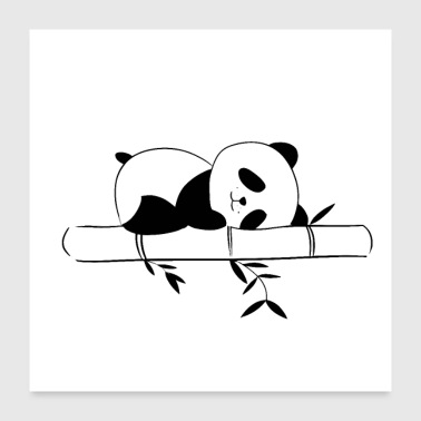 Sleeping Panda sleep - Poster 24x24