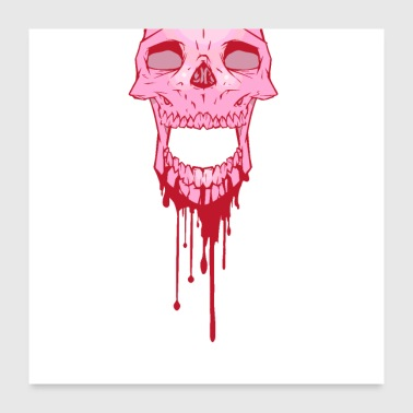 Bloody Skull drip - Poster 24x24