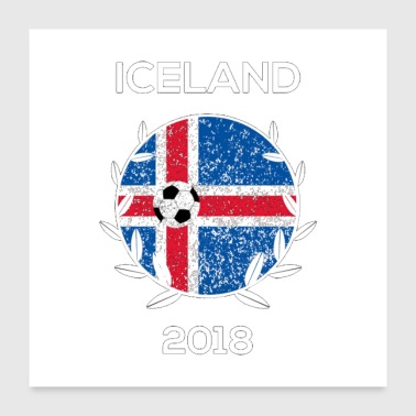 Iceland Football logo - Poster 24x24