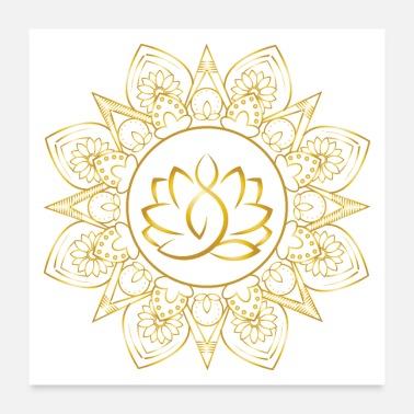 Shop lotus flower posters online spreadshirt lotus flower lotus yoga mandala positive vibes poster 24x24 mightylinksfo