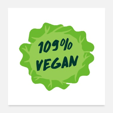 Animal Welfare Vegan vegetarian animal welfare gift idea - Poster 24x24