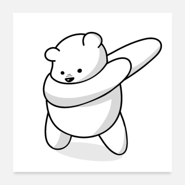 Popular Dabbing Polar Bear - Gift Idea - Poster 24x24