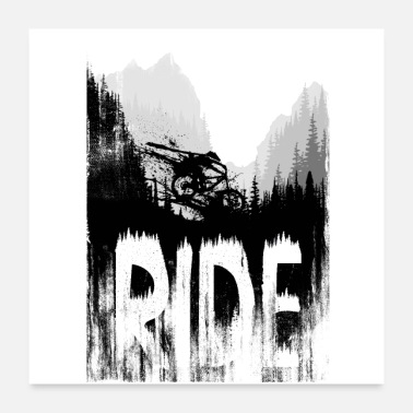 Ride Bike Ink Ride - Poster