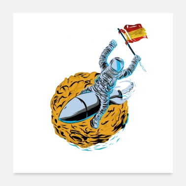 Spain Astronaut Space Flag Spain - Poster