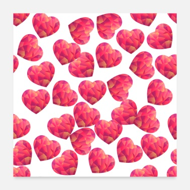 Love Collection heart - Poster 24x24