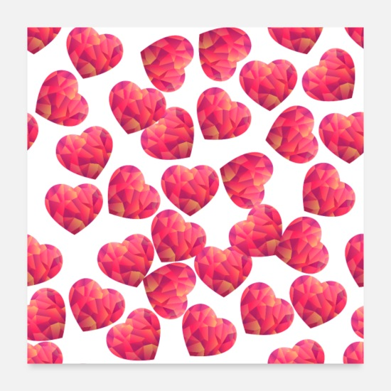 Love Posters - heart - Posters white