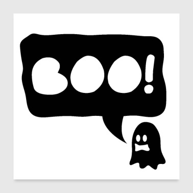 Halloween Ghost Boo - gift idea - Poster 24x24