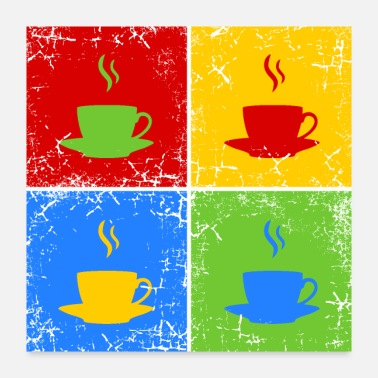 Tea coffee or tea - Poster 24x24