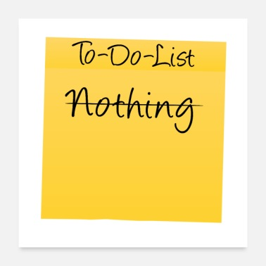 Nothing To-Do-List: Nothing - Poster