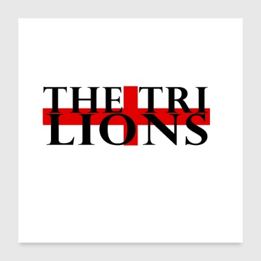 The Three Lions - Poster 24x24