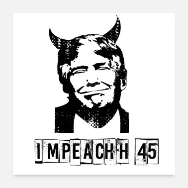 Democrat Anti Trump USA President Devil 45 Gift democrats - Poster