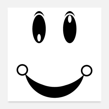 Face happiness face - Poster