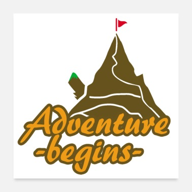 Outdoor Outdoor Adventure Begins Mountain Climbing peak - Poster 24x24
