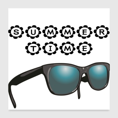 Weather summertime - sunglasses - Poster 24x24