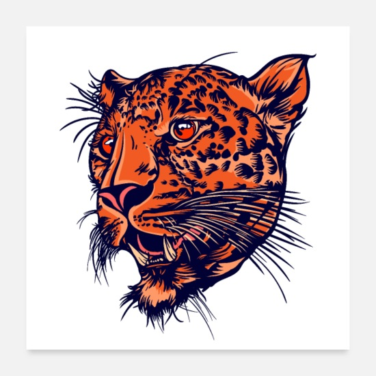 Collection Posters - Leopard's Head - Posters white