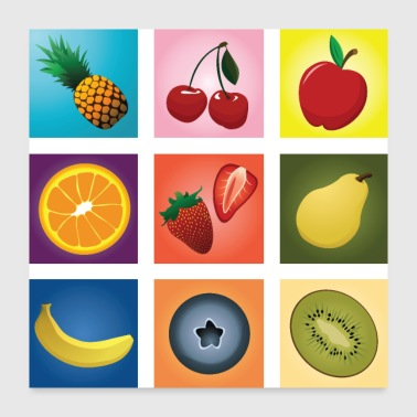 Fruit mix - Poster 24x24