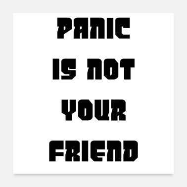 Adult Humour PANIC IS NOT YOUR FRIEND - Poster