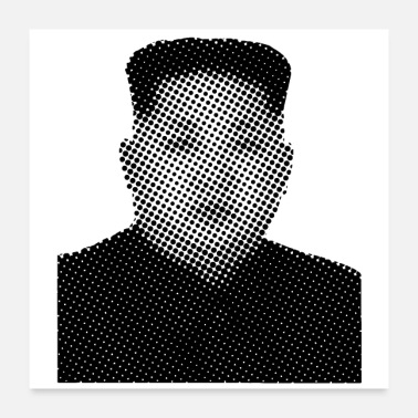 Pixel Pixelated Celebrities Kim Jong Un Nordkorea - Poster 24x24