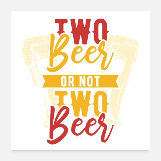 College Posters - beer and whiskey - Posters white