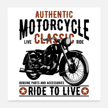Motorcycle motorcycle - Poster 24x24
