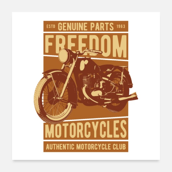 Motorcycles Posters - Biker freedom - Posters white