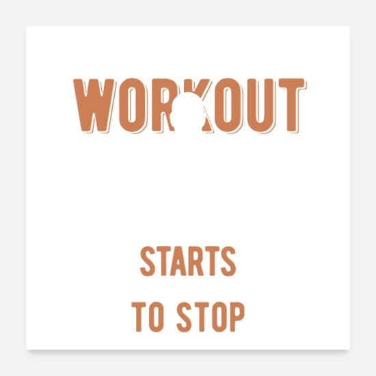 Birthday Posters - workout - Posters white