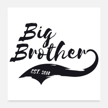 Established Big Brother Big Sister Big Brother Est. 2018 - Poster 24x24
