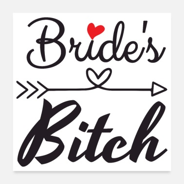 Wedding Day Bachelorette Party Wedding Brides Heart Arrow Gift - Poster 24x24