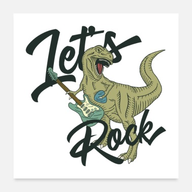 Music Lets Rock Music T Rex - Poster