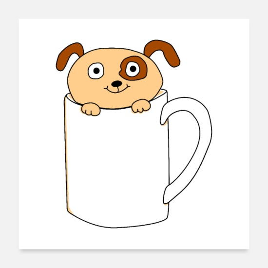 Pet Posters - Pup in a Cup - Posters white